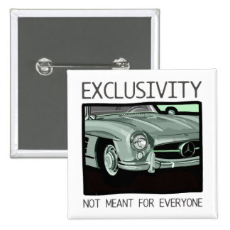 Exclusivity and wealth - old Gullwing classic car 2 Inch Square Button