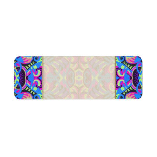 Excrutiatingly Colorful Art Deco Psychedelic Return Address Label