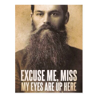 Excuse Me Miss, Beard Lovers Postcard