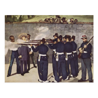 Execution of Emperor Maximilian of Mexico - Manet Postcard