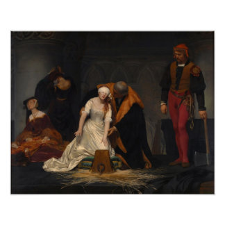 Execution of Lady Jane Grey Poster