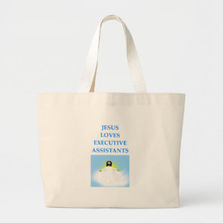 executive assistants large tote bag