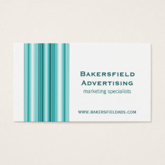 Executive Bars Business Card, Teal Business Card