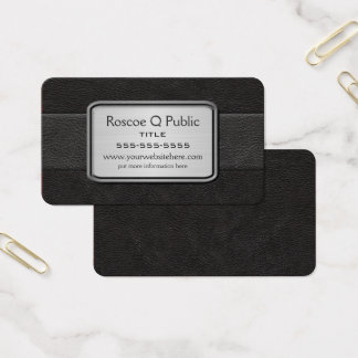 Executive Black Business Card