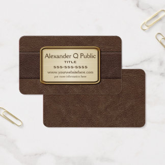 Executive Brown Business Card