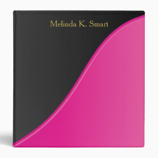 Executive Classic Black with Bright Pink Accent Binder