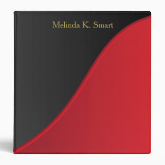 Executive Classic Black with Deep Red Accent Vinyl Binder