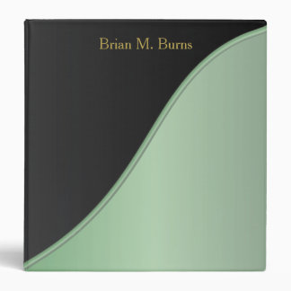 Executive Classic Black with Mint Green Accent Vinyl Binders