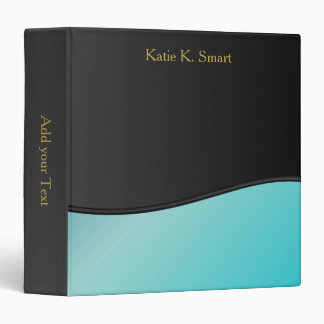 Executive Classic Black with Turquoise Accent Binder