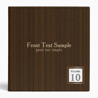 Executive Design - Dark Brown Texture Print 3 Ring Binders