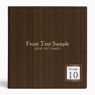Executive Design - Dark Brown Texture Print 3 Ring Binders