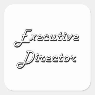 Executive Director Classic Job Design Square Sticker
