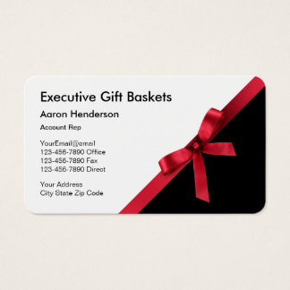 Executive Gift Basket Business Cards
