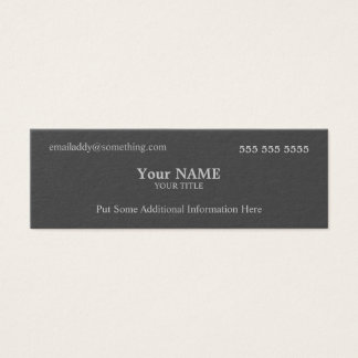 Executive Grey Mini Business Card