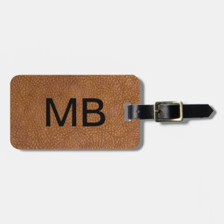 Executive Leather Look Luggage Tag