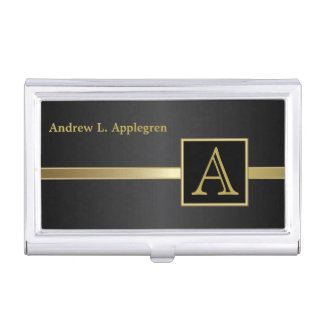 Executive Masculine Style | Monogram Business Card Holder