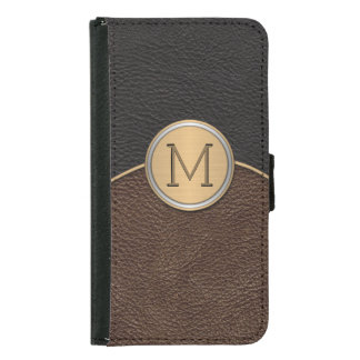 Executive Modern Monogram Samsung Galaxy S5 Wallet Case