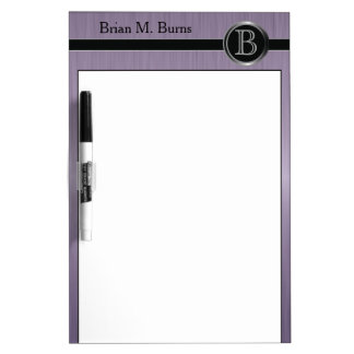 Executive Monogram Design - Amethyst Brush Steel Dry Erase Board