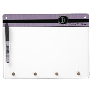 Executive Monogram Design - Amethyst Brush Steel Dry Erase Whiteboard