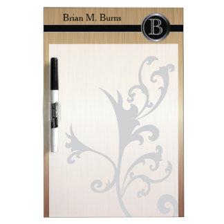 Executive Monogram Design- Citrine Brush Steel Dry-Erase Whiteboards
