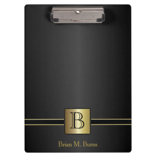 Executive Monogram Design Clipboard
