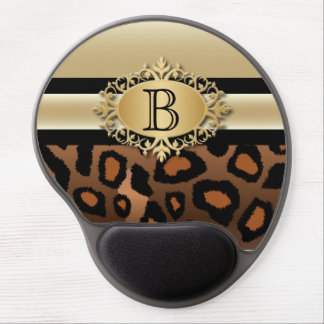 Executive Monogram Design | Jaguar Animal Print Gel Mouse Pad