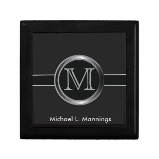 Executive Monogram Design Jewelry Box