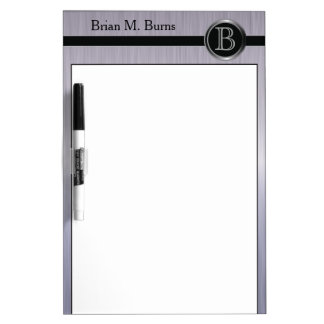 Executive Monogram Design - Tanzanite Brush Steel Dry Erase Boards