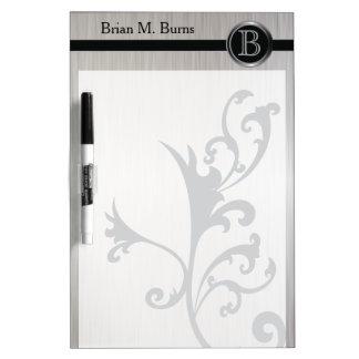 Executive Monogram Design - White Brush Steel Dry Erase Whiteboards