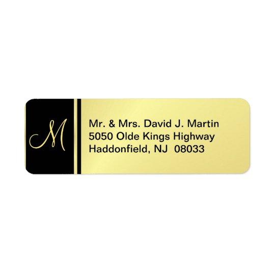 Executive Monogram Labels - Gold & Black