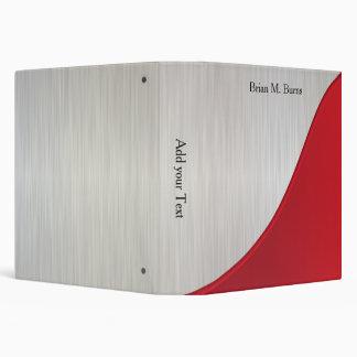 Executive Personalize Design - White Brush Steel Vinyl Binder