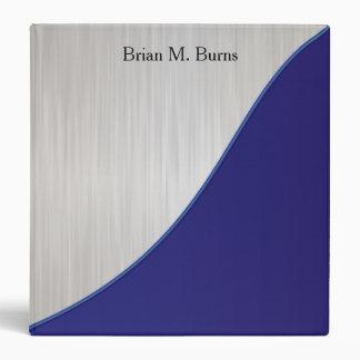 Executive Personalize Design - White Brush Steel Vinyl Binders