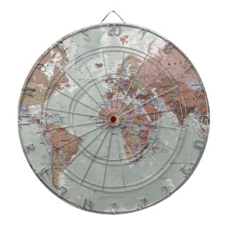 Executive World Map Dartboard With Darts