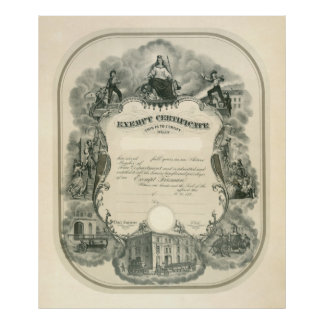 Exempt Fireman Certificate 1898 Poster