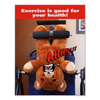 Exercise Bear Hates Exercise Poster