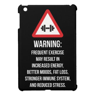 Exercise Benefits - Warning - Workout Motivational iPad Mini Cover