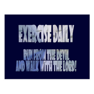 Exercise Daily Postcard