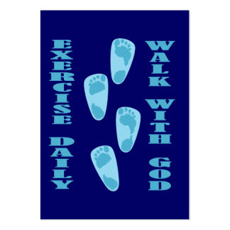Exercise Daily - Walk with God Tract Card / Pack Of Chubby Business Cards