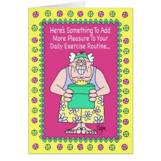 EXERCISE GURU Birthday Card