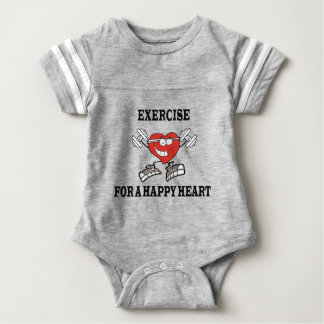 exercise heart2 baby bodysuit