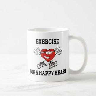 exercise heart2 coffee mug