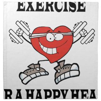 exercise heart2 napkin