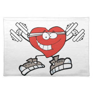 exercise heart2 placemat