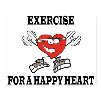 exercise heart2 postcard