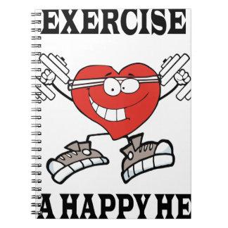 exercise heart2 spiral notebook