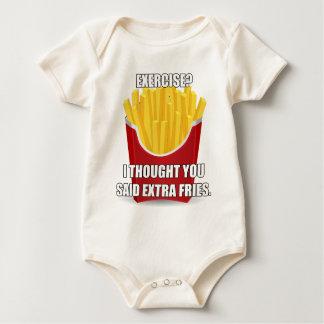 Exercise? I Thought You Said Extra Fries? Baby Bodysuit