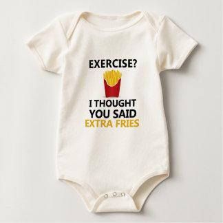 EXERCISE I Thought You said Extra Fries Baby Bodysuit