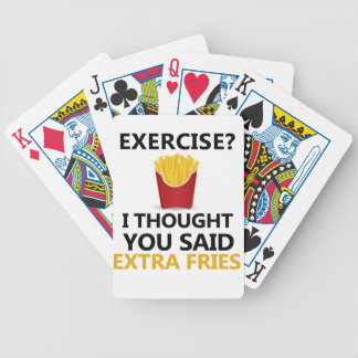 EXERCISE I Thought You said Extra Fries Bicycle Playing Cards