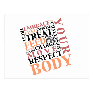 Exercise Love Respect Feed Your Body Postcard