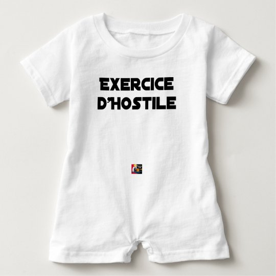 Exercise of Hostile - Word games François City Baby Romper